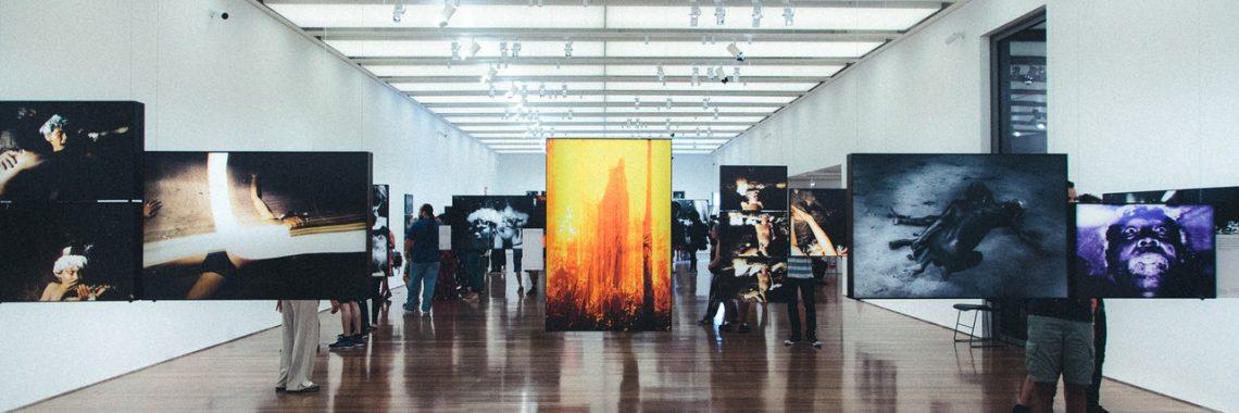 gallery, art, people